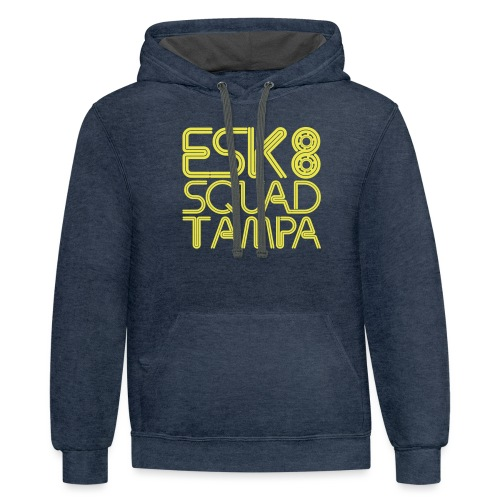 Esk8Squad TampaBay - Unisex Contrast Hoodie