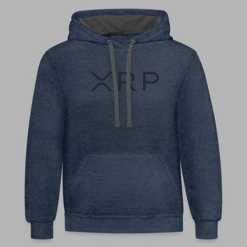 XRP BLACK - Unisex Contrast Hoodie