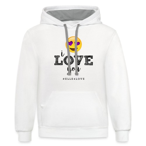 I LOVE you - Contrast Hoodie