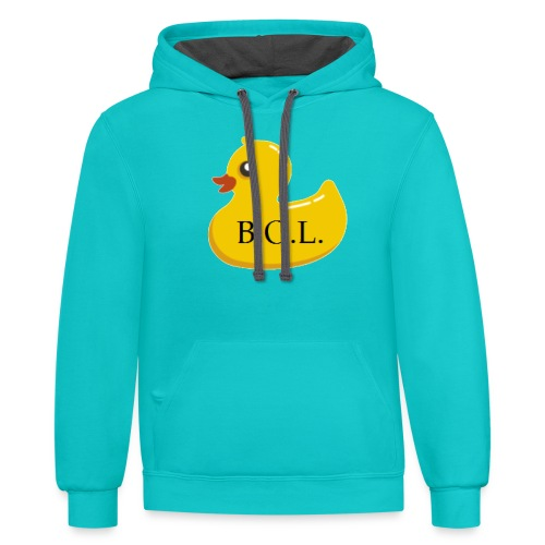 Official B.O.L. Ducky Duck Logo - Contrast Hoodie