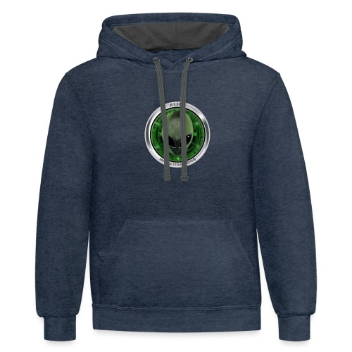 New Alien Investigations Head Logo - Contrast Hoodie