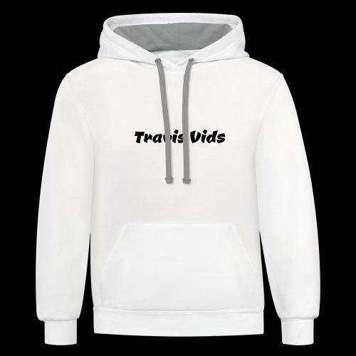 White shirt - Contrast Hoodie