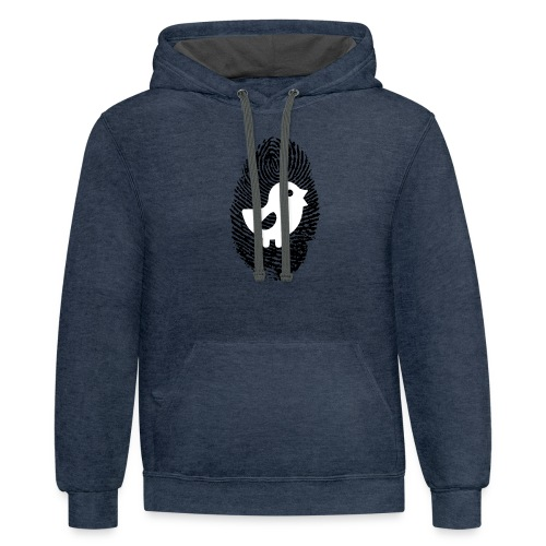 Chick Finger Print - Contrast Hoodie