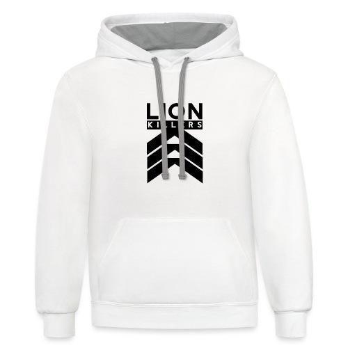 Lion Killers Logo - Red Range - Contrast Hoodie