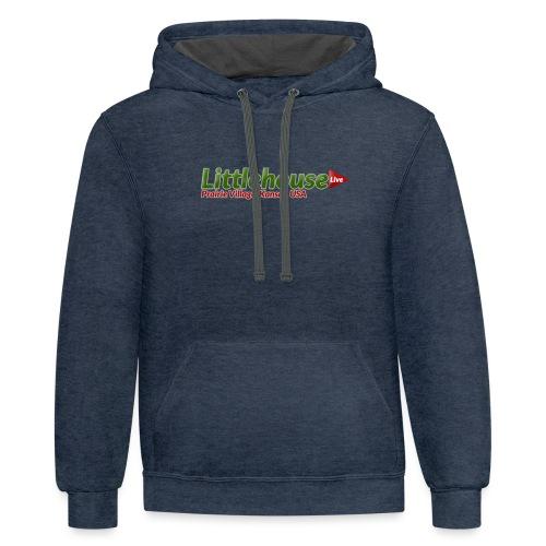 Littlehouse Logo - Unisex Contrast Hoodie