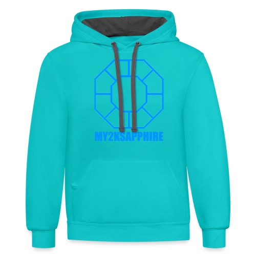 Unisex Blue Sapphire Hoodie - Contrast Hoodie