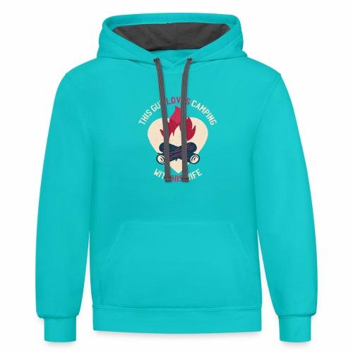 Camping tshirt02 HQ 01 - Contrast Hoodie