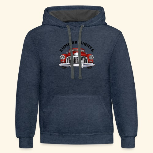 car show summer nights Design - Contrast Hoodie