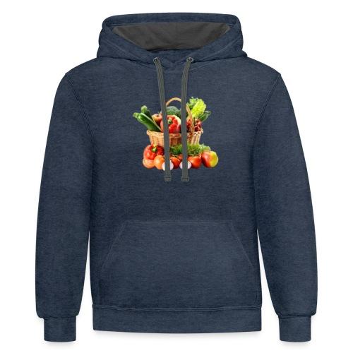 Vegetable transparent - Unisex Contrast Hoodie