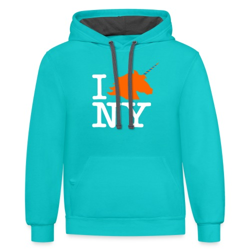 I Unicorn New York (Kristaps Porzingis) - Contrast Hoodie