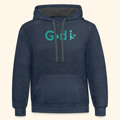GOD IS #4 - Contrast Hoodie