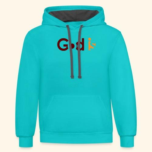 GOD IS #5 - Contrast Hoodie