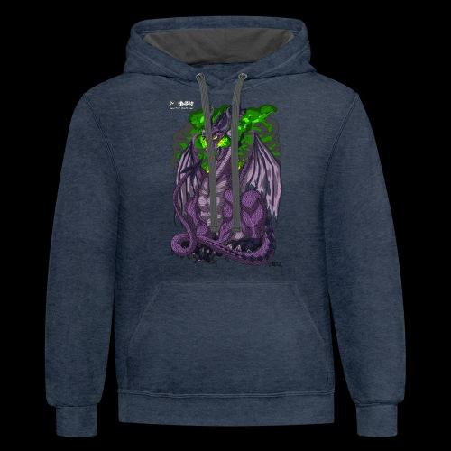 Purple Dragon - Contrast Hoodie
