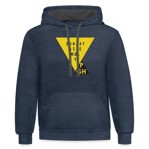 Sunday Assembly Pittsburgh Logo - Unisex Contrast Hoodie