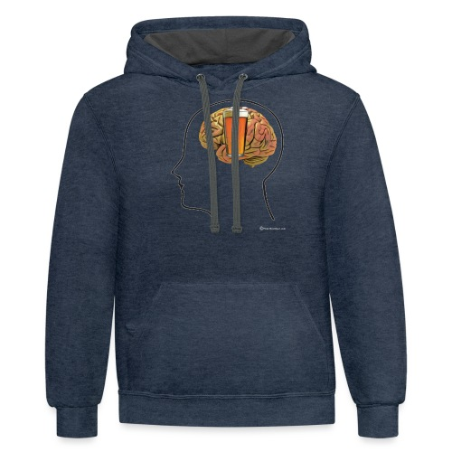 Great Minds Drink Alike - Contrast Hoodie
