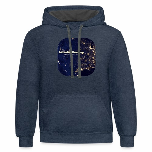 "InovativObsesion ""TURN ON YOU LIGHT"" Apparel - Contrast Hoodie"