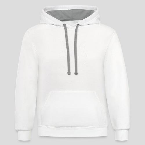 FUCKEMALL White Logo - Contrast Hoodie