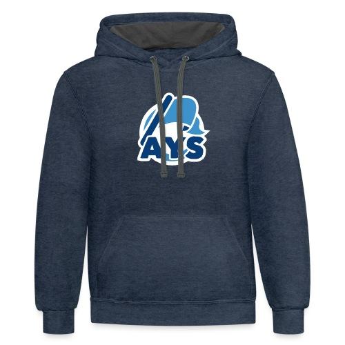 AYS Logo - Unisex Contrast Hoodie