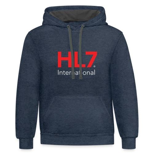 HL7 International Logo - Reverse - Unisex Contrast Hoodie