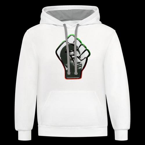 Huey Newton RBG Fist - Contrast Hoodie