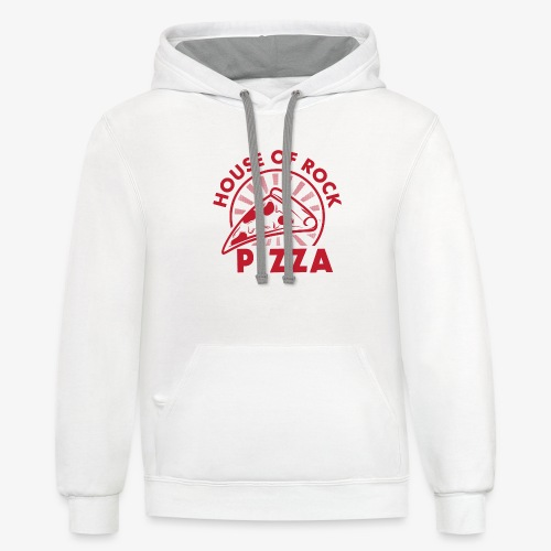 HOR Pizza Red - Unisex Contrast Hoodie