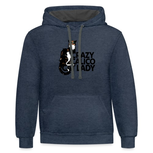 Crazy Calico Cat Lady - Contrast Hoodie