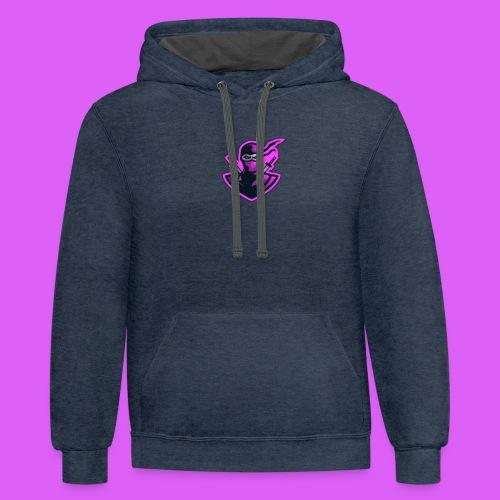 Pink Ribbon - Contrast Hoodie