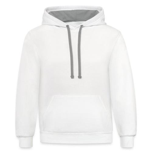 SEA_logo_WHITE_eps - Unisex Contrast Hoodie