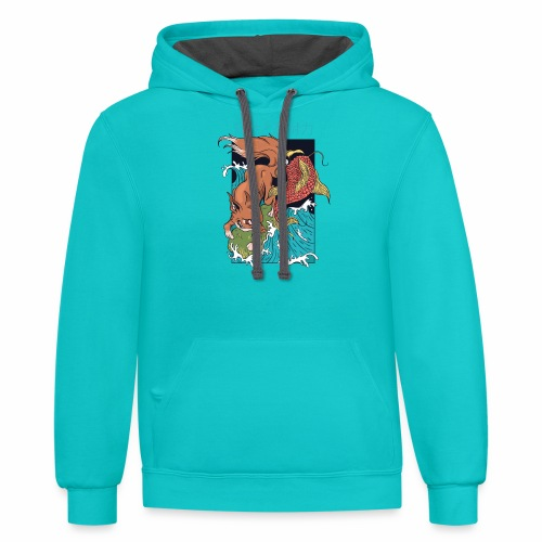 Resistance and endurance - Contrast Hoodie