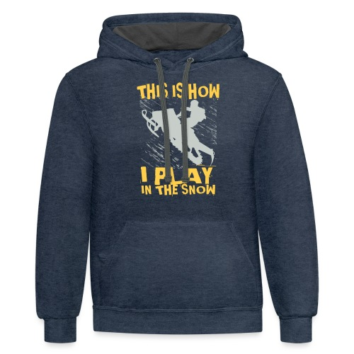 Snowmobile Snow Play - Contrast Hoodie