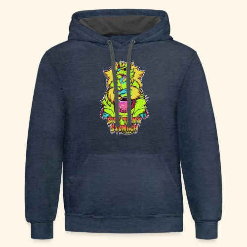 - Sick To My Stomach - - Contrast Hoodie
