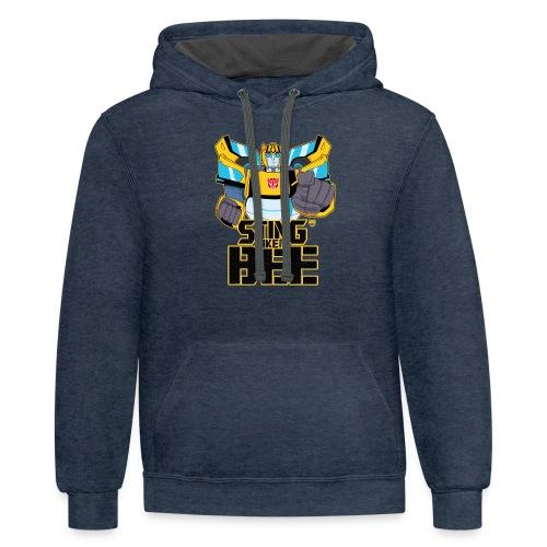 STING LIKE A BEE - Unisex Contrast Hoodie