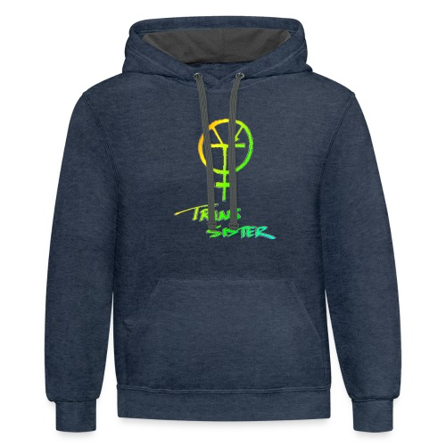 Trans Sister (light) - Unisex Contrast Hoodie