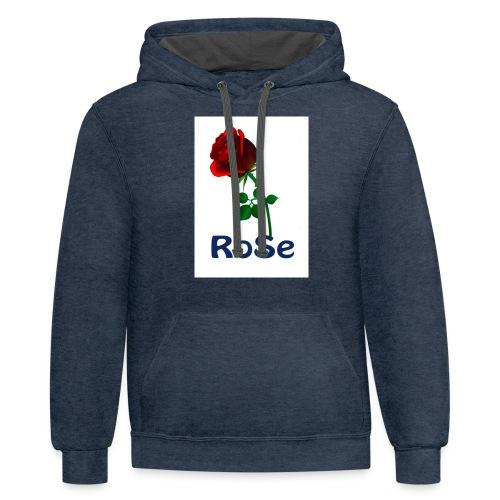 Red Rose - Unisex Contrast Hoodie