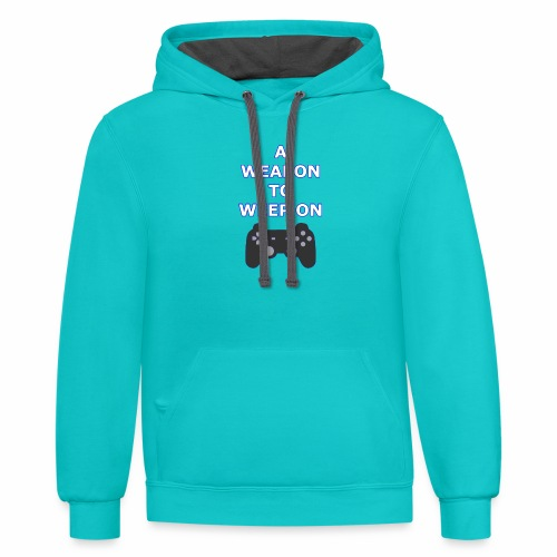 A Weapon to Weep On - Contrast Hoodie