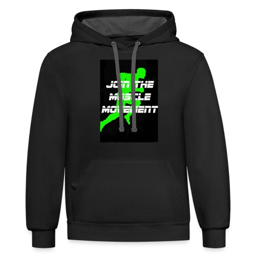 muscle movement - Contrast Hoodie