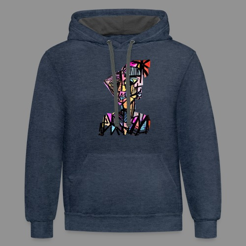 The Patchwork Man - Contrast Hoodie