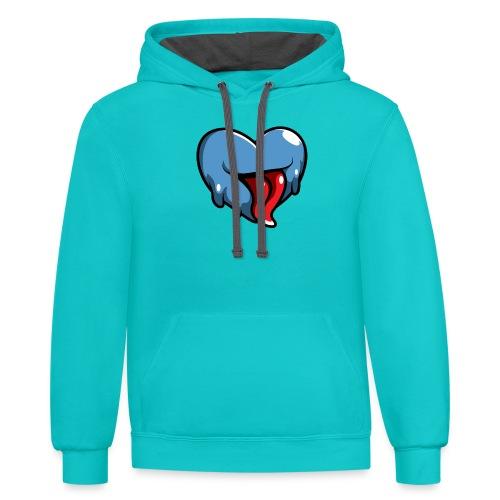 Crazy Heart - Contrast Hoodie