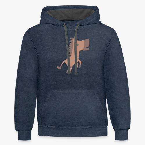 Horse - Contrast Hoodie