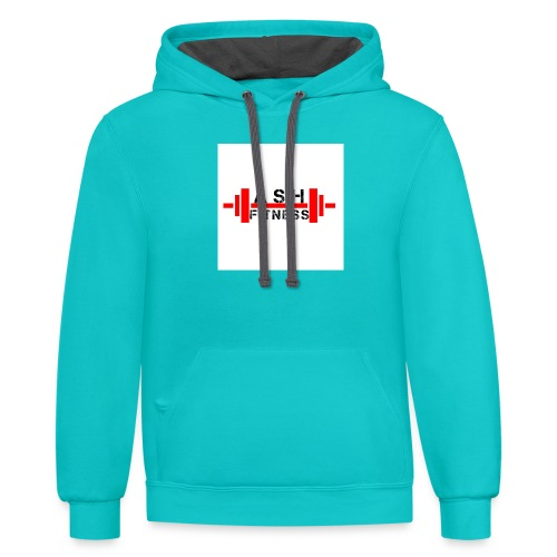 ASH FITNESS MUSCLE ACCESSORIES - Contrast Hoodie
