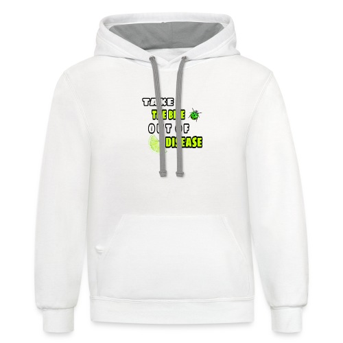 Take the bite out of Lyme's Disease - Contrast Hoodie