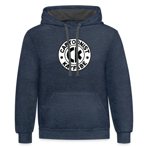 Cartoonist Kayfabe EC logo Black letters on White - Contrast Hoodie