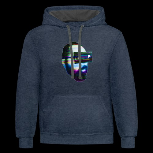 Spaceboy Music - Glitched - Unisex Contrast Hoodie