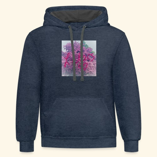 I love Lilacs - Unisex Contrast Hoodie