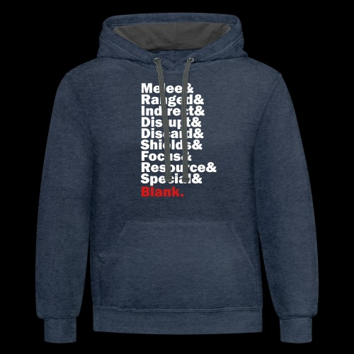 Discard to Reroll - Sides of the Die - Unisex Contrast Hoodie