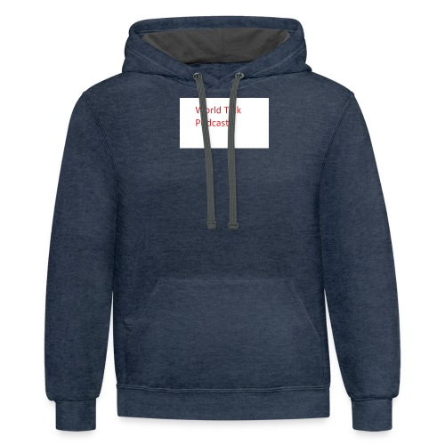 World Talk Merch - Contrast Hoodie