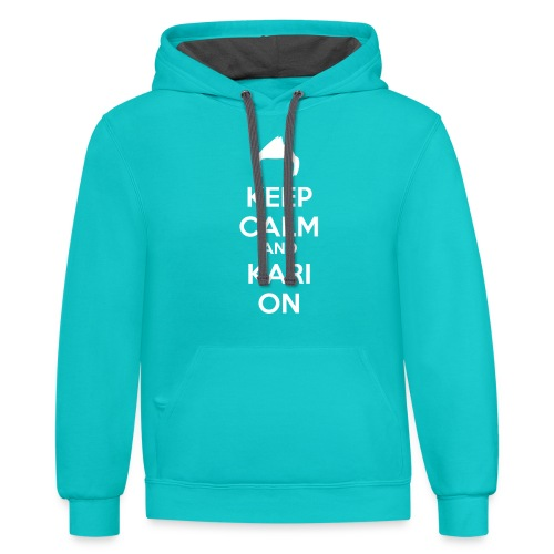 Kari on - Unisex Contrast Hoodie