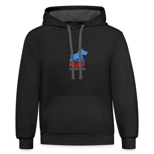 ruffsleepers logo 01 - Contrast Hoodie
