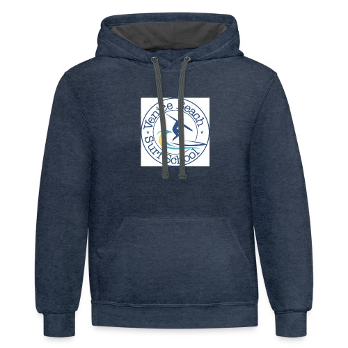 Venice Beach Surf T-Shirts Hats Hoodies - Unisex Contrast Hoodie