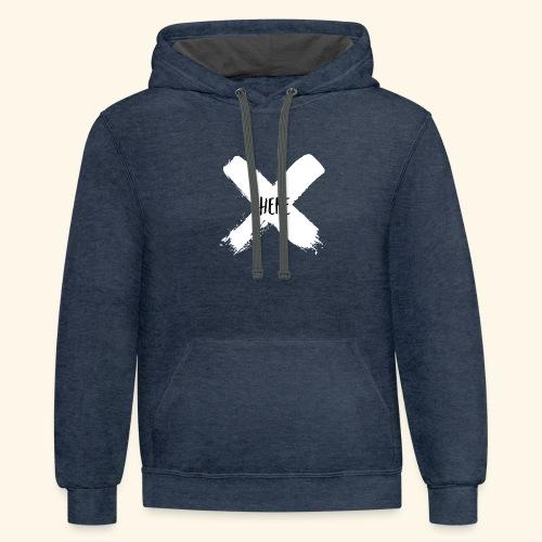 White X - Unisex Contrast Hoodie